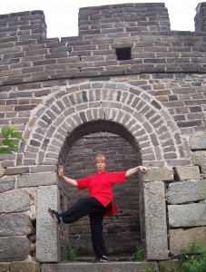 Gai doing Tai Chi on The Great Wall of China